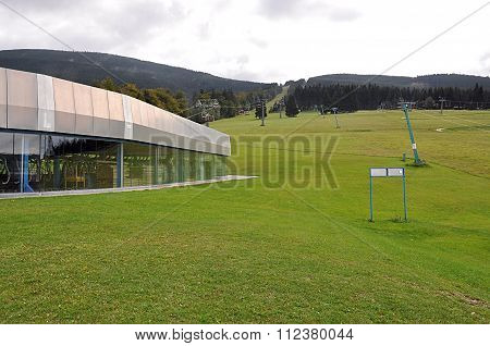 modern chairlift, mountain Jeseniky, Czech Republic, Europe
