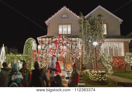 Christmas House In Brooklyn New York