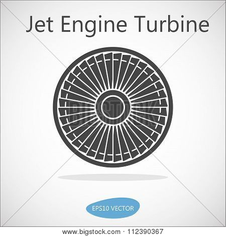 Jet Engine Turbine Front View