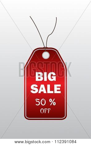 Modern red price tag - Big sale
