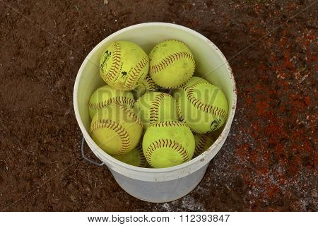 Bucket of Softballs