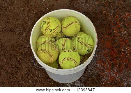 Bucket of Softballs
