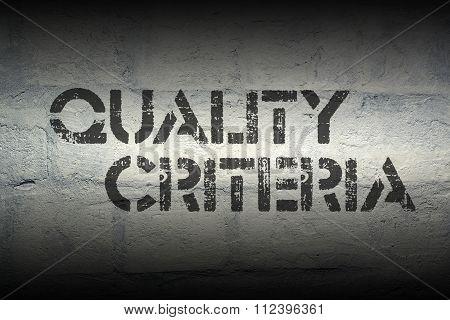 Quality Criteria Gr