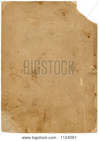 Old Textured Paper With Tattered Edge And Clipping Path.