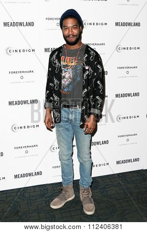 NEW YORK-OCT 11: Recording artist/actor Kid Cudi attends the premiere of 'Meadowland' at Sunshine Landmark on October 11, 2015 in New York City.