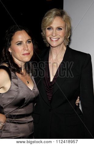 Lara Embry and Jane Lynch at the 22nd Annual Producers Guild Awards held at the Beverly Hilton hotel in Beverly Hills, California, United States on January 22, 2010.