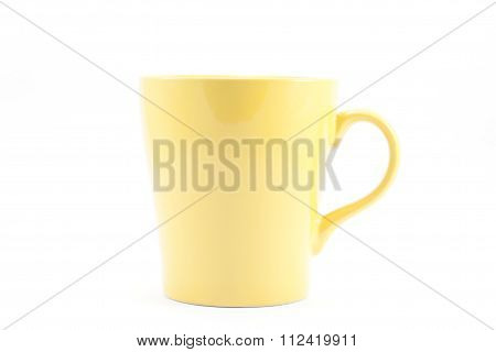 Yellow Mug Isolated On White Background