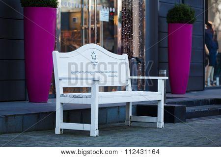 Outdoor Bench In Kaliningrad
