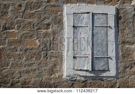 Close Window On A Stoned Wall