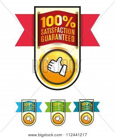 Satisfaction guarantee label