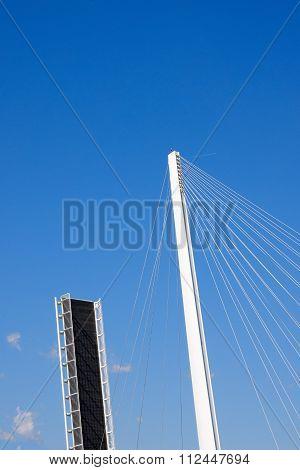 Open Drawbridge With Blue Sky