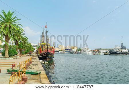 The Scenic Promenade Of Sousse