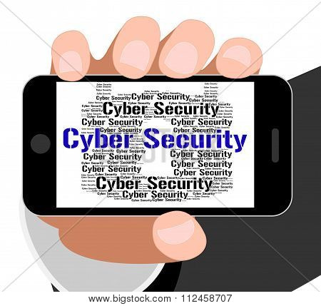 Cyber Security Indicates World Wide Web And Searching
