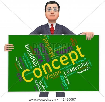 Concept Word Means Abstraction Thinking And Invention