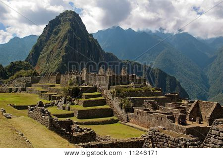 Wayna Picchu Framed In Ruins