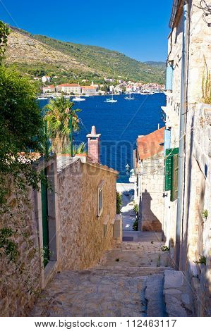 Narrow Streets Of Vis Island Vertical View