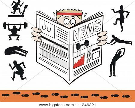 Exercise newspaper cartoon