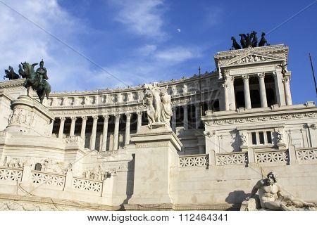 Vittoriano (vittorio Emanuele Ii Monument) In Rome, Italy