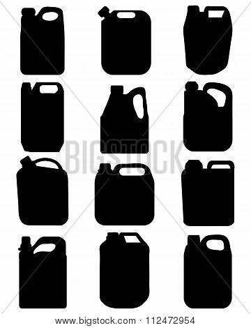 silhouettes of canisters