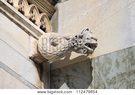 Gargoyle in Monza Cathedral, Italy