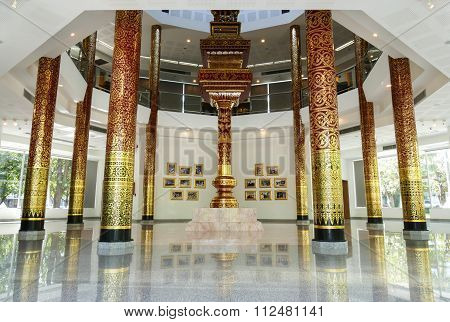 The Interior Of Building For Glorifying The King In Chiang Mai University