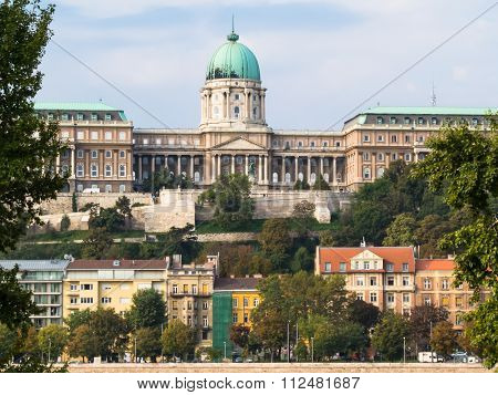 View of the Danube river and Royal Palace, Budapest Hungary poster