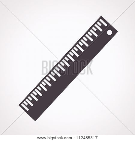 an images of illustration vector Ruler Icon Straightedge icon
