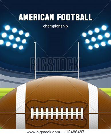 american football realistic theme eps 10