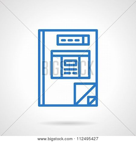 Project book simple line style vector icon