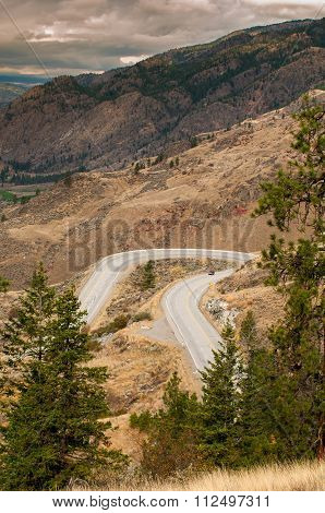Winding Road in Okanagan Valley