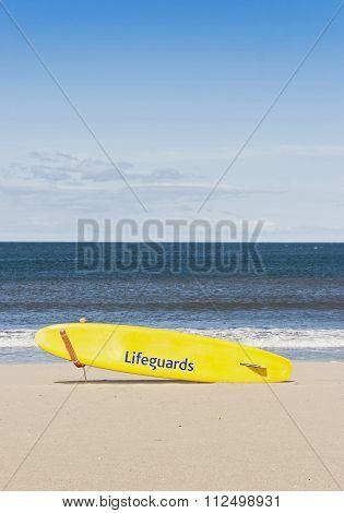 Board on the beach