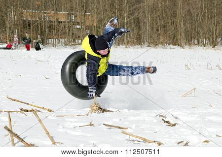 Falling Off Snow Tube