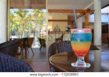 Tropical drink in Cuba