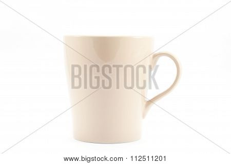 Brown Mug Isolated On White Background