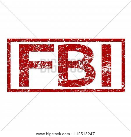 an images of illustration Stamp text FBI