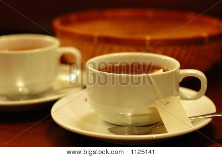 Teacups And Basket