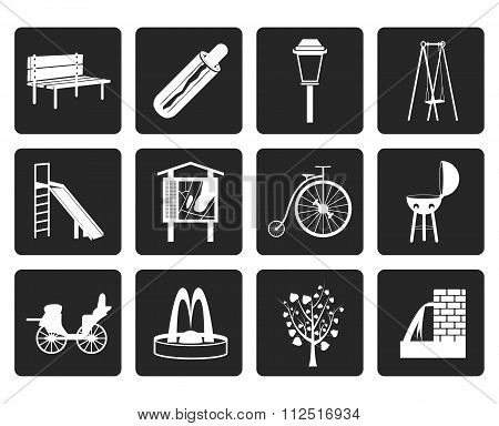 Black Park objects and signs icon