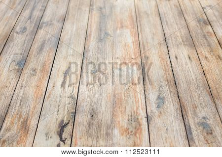 close up of table made of wooden planks