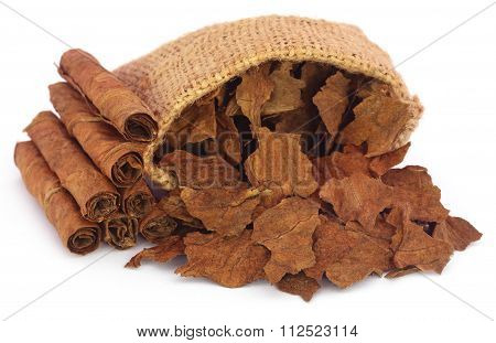 Dry Tobacco Leaves In Sack