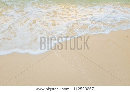 White sand beach Sea wave cozy nature