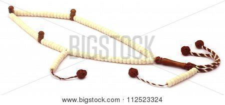 Rosary Over White Background