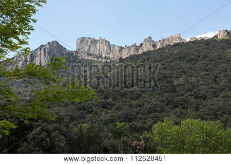 Peyrepertuse Castle In  French Pyrenees