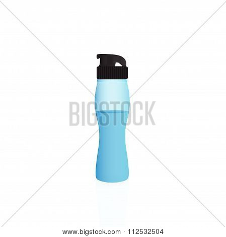 Illustration of a water bottle isolated on a white background.