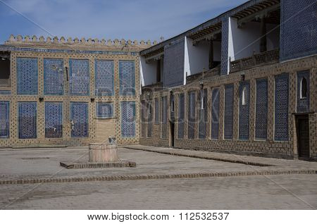 The Harem Courtyard S In Tosh Hovl Palace, Khiva.