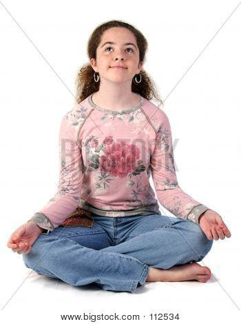 Teen Girl Meditating