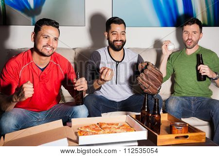 Baseball Fans Rooting For Their Team