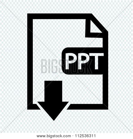 an images of File type PPT icon