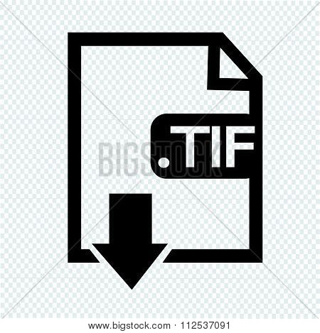 an images of Image File type Format TIF icon