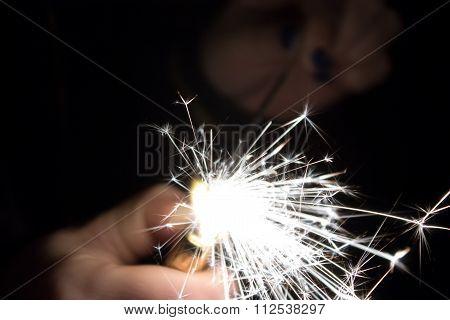 Inciting Sparklers Closeup