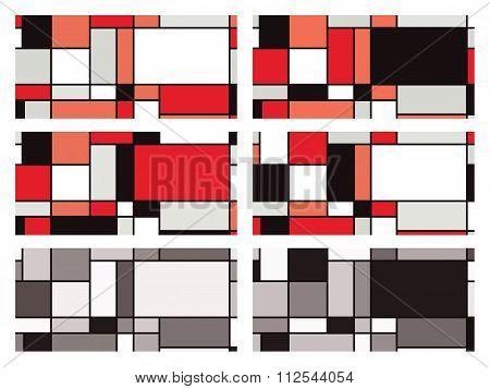 Mondrian Style Vector Illustration